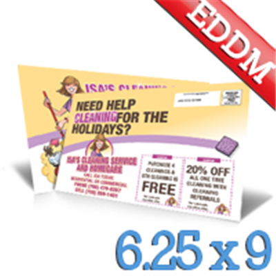 6.25 x 9 Every Door Direct Mail Postcard Upload Your Design